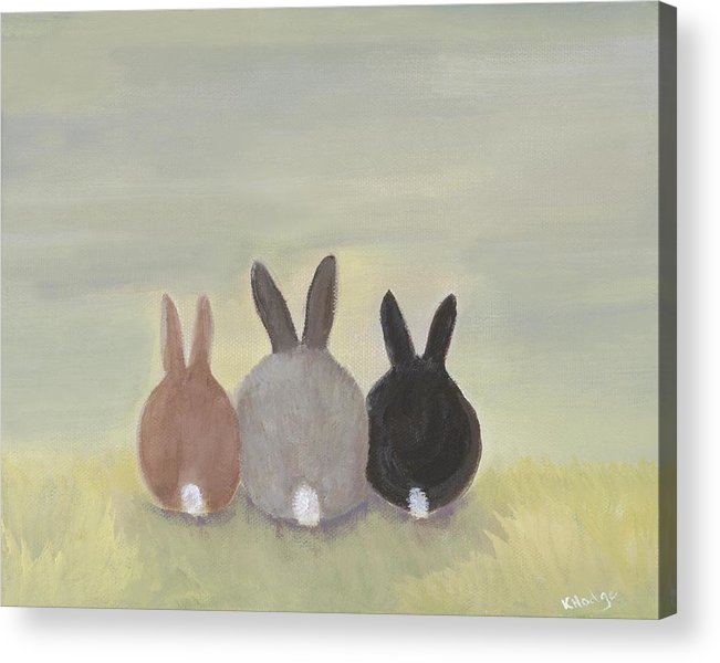 Bunny Acrylic Print featuring the painting Bunrise by Kimberly Hodge