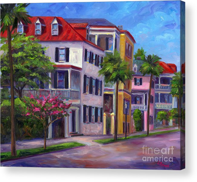 Charleston Acrylic Print featuring the painting East Bay - Charleston by Jeff Pittman