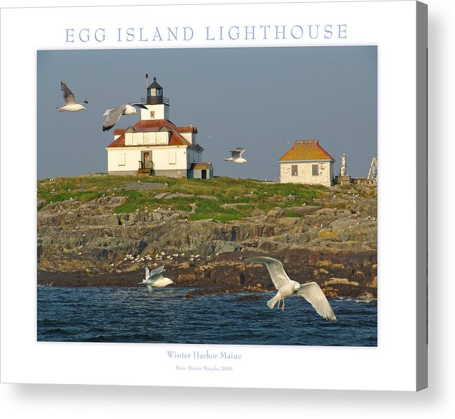 Landscape Acrylic Print featuring the photograph Egg Rock Island Lighthouse by Peter Muzyka