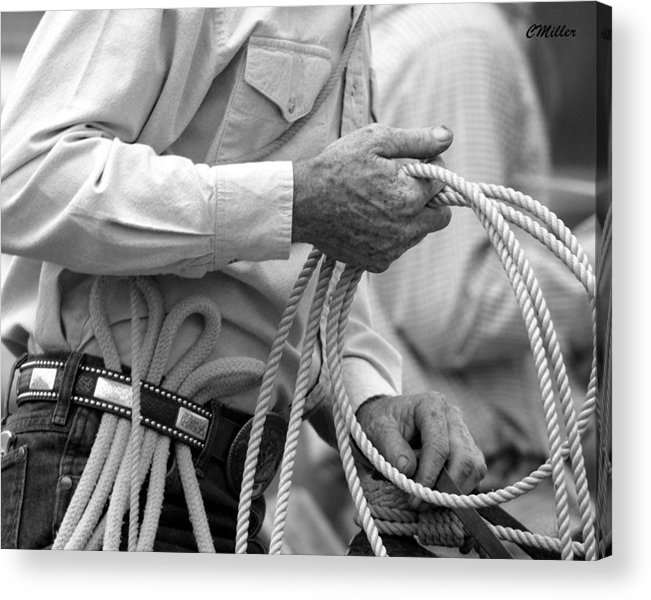 Rodeo Acrylic Print featuring the photograph Hands Of Time.. by Carol Miller