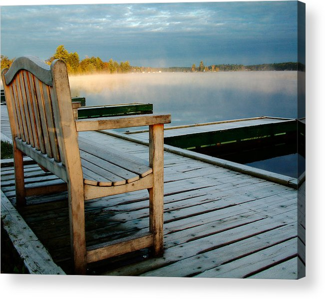Sunrises Acrylic Print featuring the photograph Muskoka Lake At Sunrise by Linda McRae