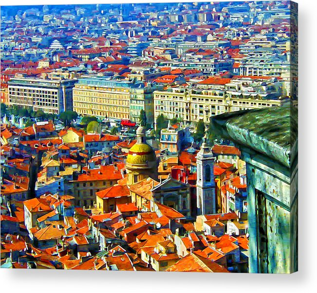 Nice Acrylic Print featuring the digital art Nice Hilltop by Patricia Stalter