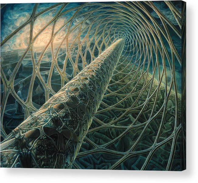 Dna Acrylic Print featuring the painting No End by De Es Schwertberger