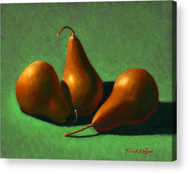 Still Life Acrylic Print featuring the painting Pears by Frank Wilson