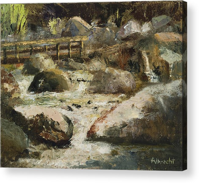 Plein Air Painting Acrylic Print featuring the painting Rocky Mountain National Park by Nancy Albrecht