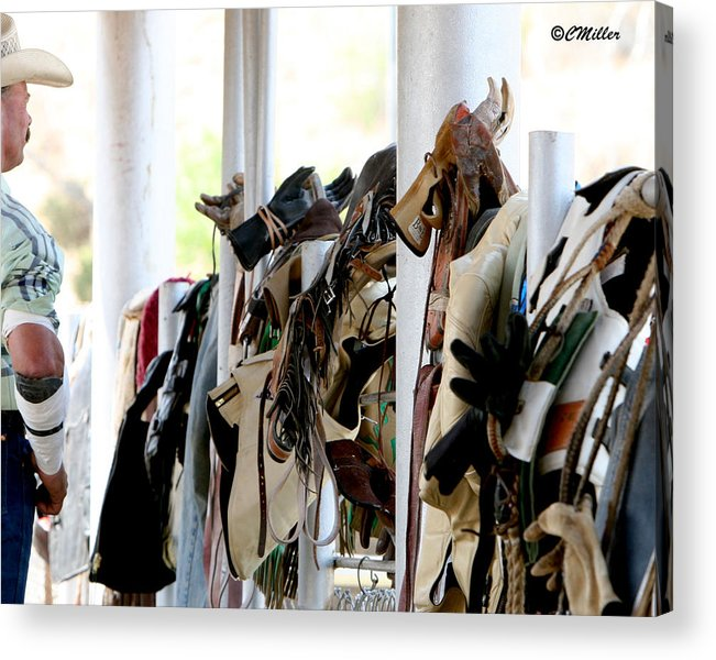 Rodeo Acrylic Print featuring the photograph Rodeo Gear by Carol Miller