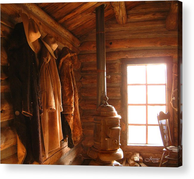 Western Rustic Cabin Acrylic Print featuring the photograph Rustic Cabin by Jessica Westermeyer