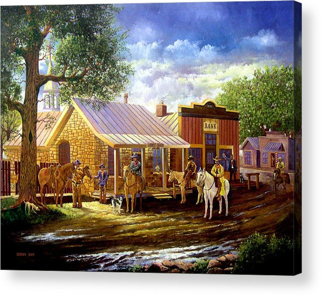 Western Art Lawmen Acrylic Print featuring the painting The Sheriffs Posse by Donn Kay