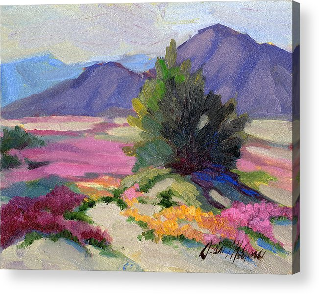 Verbena Acrylic Print featuring the painting Verbena 2 by Diane McClary