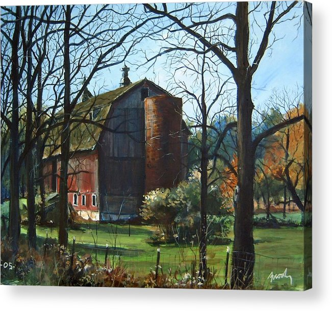 Landscape Acrylic Print featuring the painting Remember When by William Brody