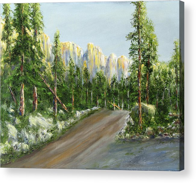 Landscape Acrylic Print featuring the painting Sunrise On Spruce Mesa by Thomas Restifo