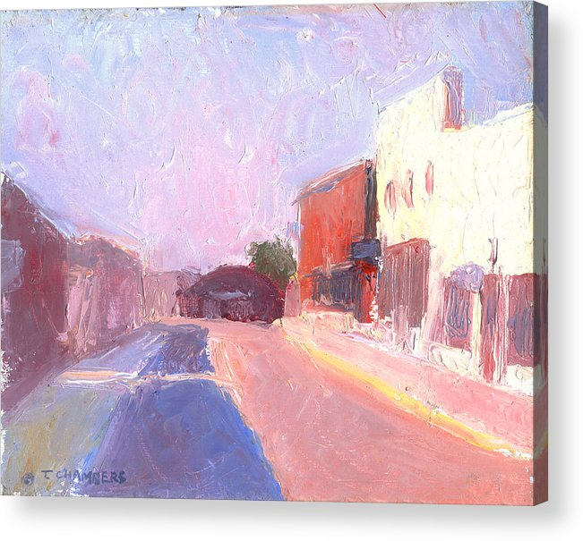 Landscape Acrylic Print featuring the painting Twentyfirst Street Early Am by Timothy Chambers