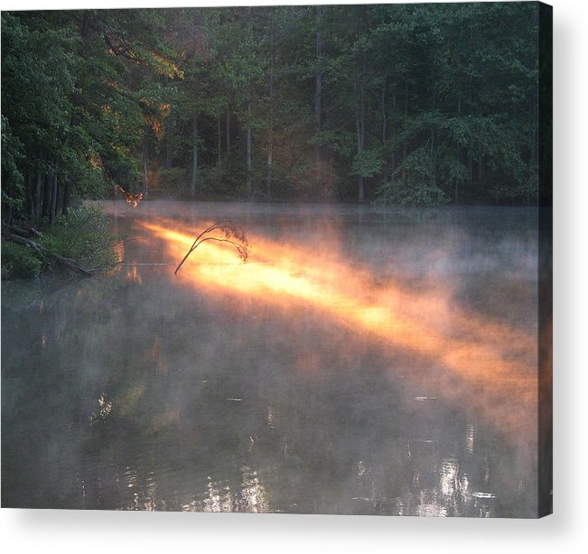 Lake Acrylic Print featuring the photograph Sun Rise Across The Lake by Rose Cottage Ltd