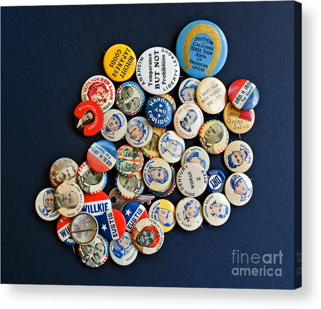 Buttons Acrylic Print featuring the photograph Buttons by Gwyn Newcombe