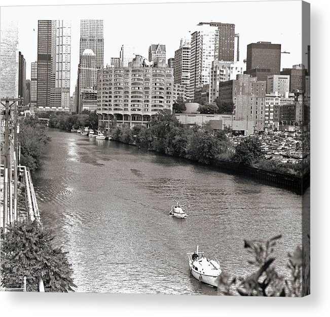 Landscape Acrylic Print featuring the photograph Chicago River by Eric Belford