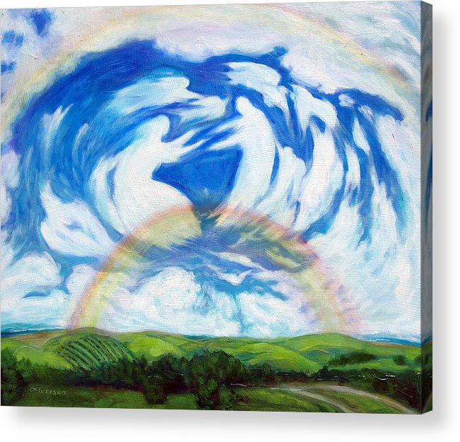 Heaven Acrylic Print featuring the painting Coming Home by Jill Iversen