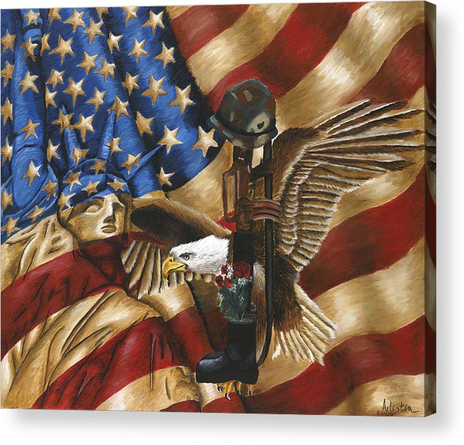 Tribute Acrylic Print featuring the painting Freedom by Renee Lindsey
