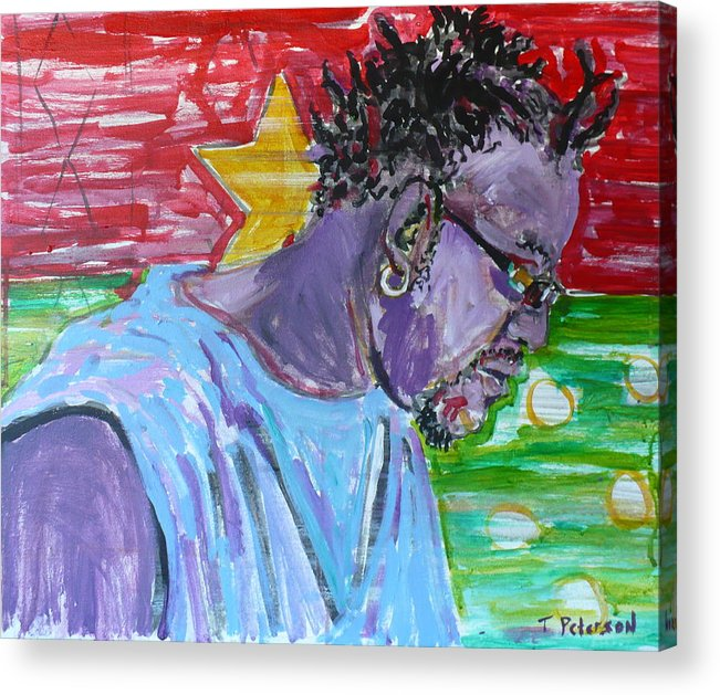 Acrylic Acrylic Print featuring the painting Man From Burkina Faso by Todd Peterson
