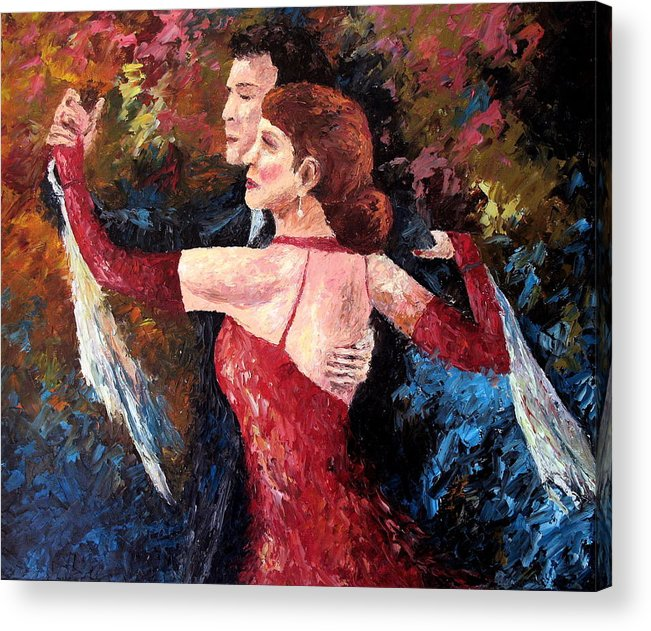 Tango Acrylic Print featuring the painting Two To Tango by David G Paul