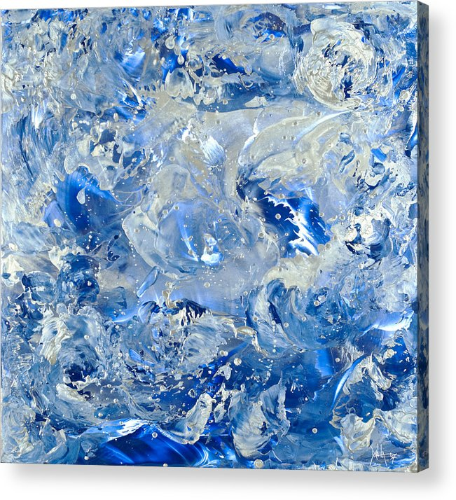 Abstract Painting Acrylic Print featuring the painting Wipe Out II by Danita Cole