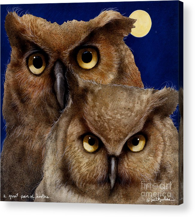 Will Bullas Acrylic Print featuring the painting A Great Pair Of Hooters... by Will Bullas