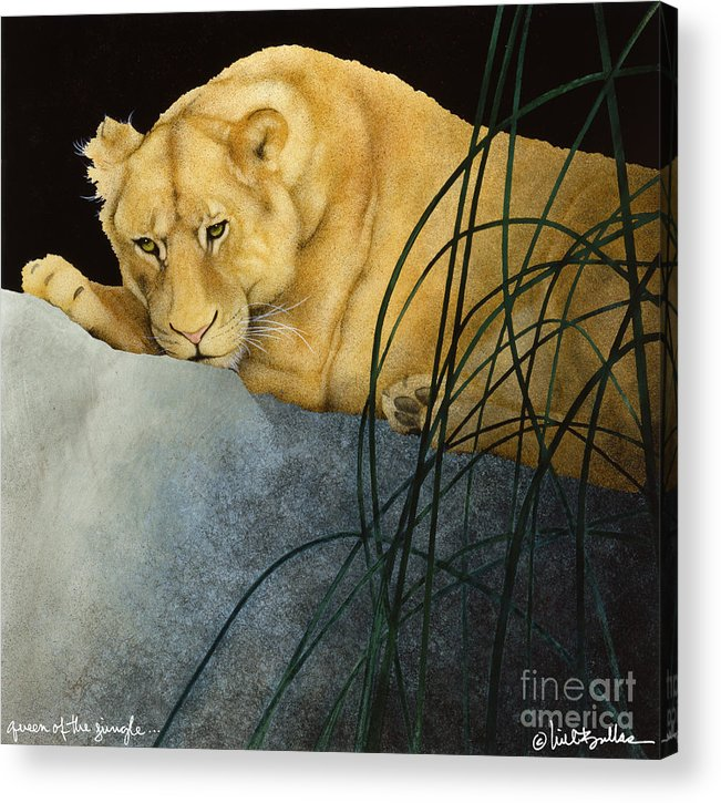 Will Bullas Acrylic Print featuring the painting Queen Of The Jungle... by Will Bullas