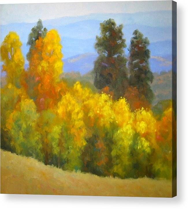 Autumn Acrylic Print featuring the painting Autumn Vista by Bunny Oliver