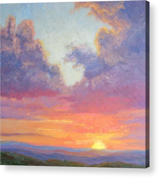 Sunset Acrylic Print featuring the painting Glory Of The Western Sky by Bunny Oliver