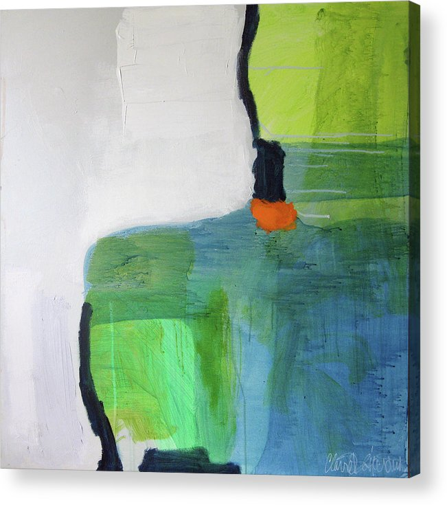 Abstract Acrylic Print featuring the painting One Day I Was Dreaming by Claire Desjardins