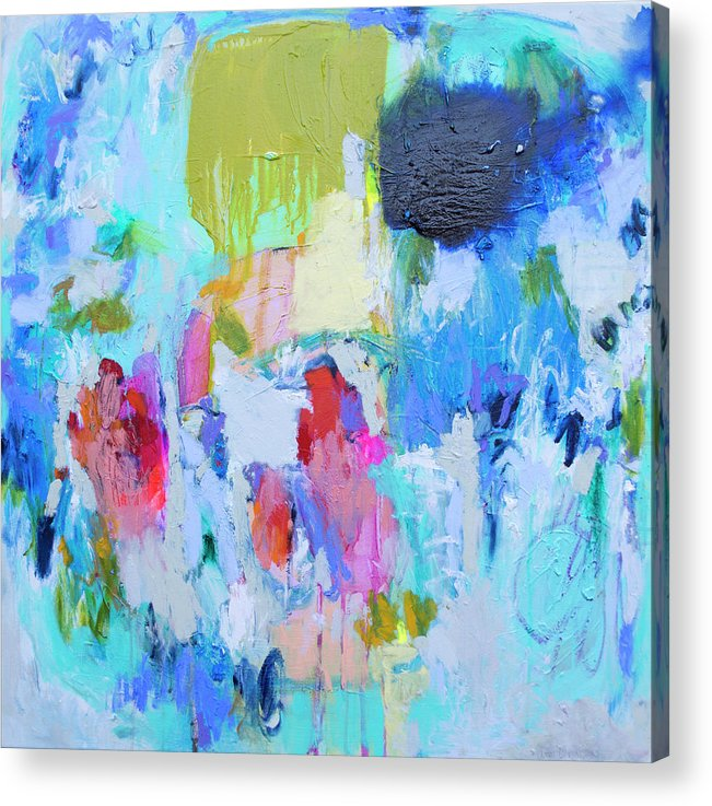 Abstract Acrylic Print featuring the painting Soul Feeling by Claire Desjardins