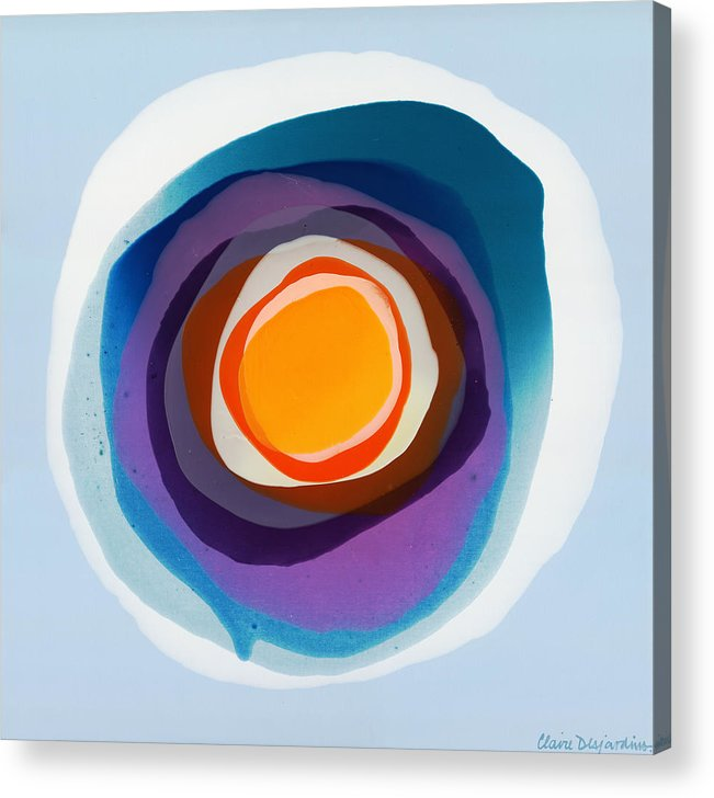 Abstract Acrylic Print featuring the painting Focussed by Claire Desjardins