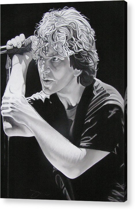 Eddie Vedder Acrylic Print featuring the drawing Eddie Vedder by Joshua Morton
