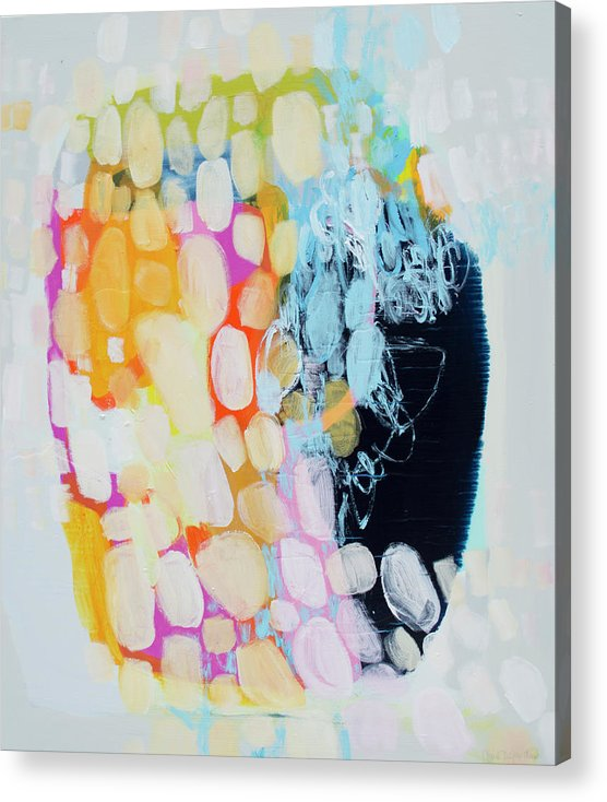 Abstract Acrylic Print featuring the painting Come To Bed by Claire Desjardins