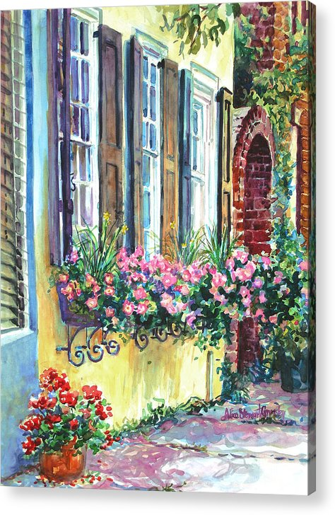 Charleston Acrylic Print featuring the painting Church Street Textures by Alice Grimsley