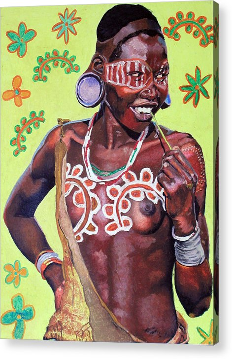 Africa Acrylic Print featuring the painting Daisy Child by Andre Ajibade