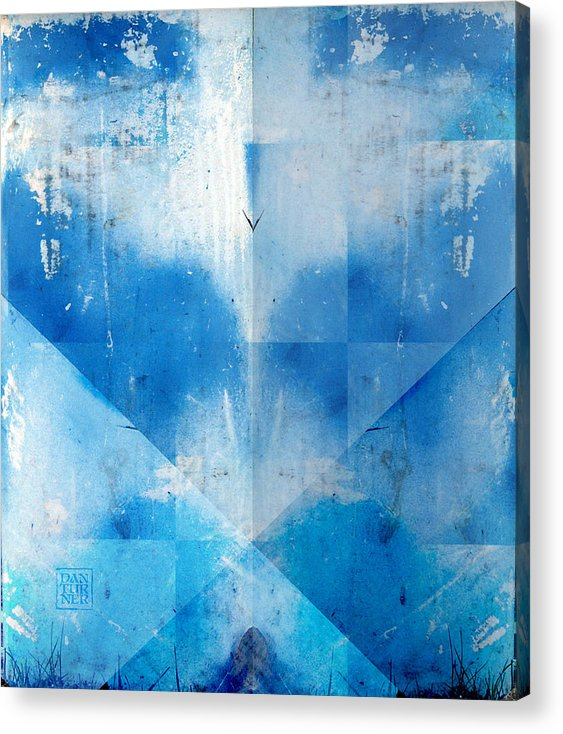 Acrylic Print featuring the digital art Blue Rust by Dan Turner