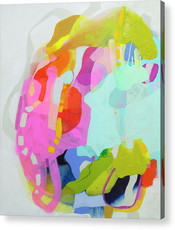 Abstract Acrylic Print featuring the painting I'm So Glad by Claire Desjardins
