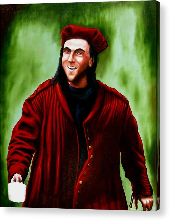 Jacket. Portraits Acrylic Print featuring the painting John S New Jacket by Ivan Rijhoff