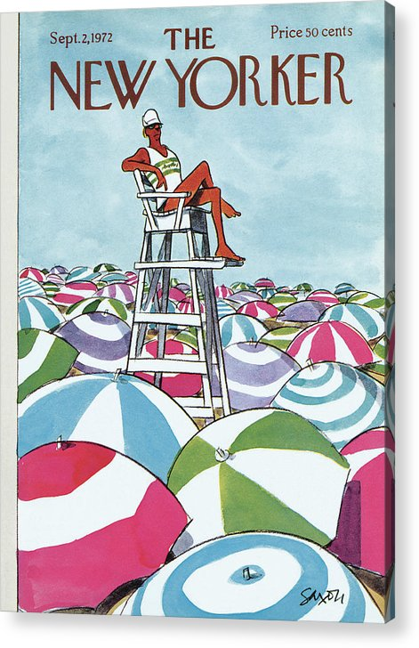 Sea Of Umbrellas by Charles Saxon