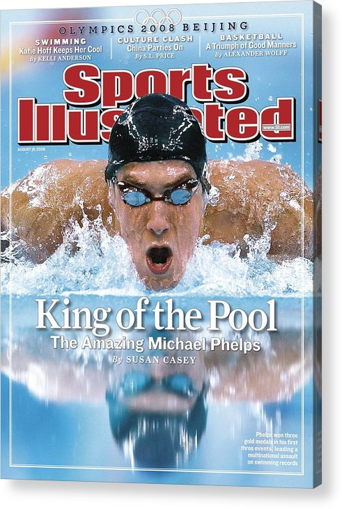 Magazine Cover Acrylic Print featuring the photograph , 2008 Summer Olympics Sports Illustrated Cover by Sports Illustrated