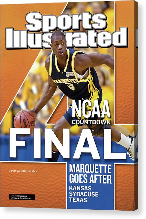 Hubert H. Humphrey Metrodome Acrylic Print featuring the photograph 2003 Ncaa Final Four Countdown Sports Illustrated Cover by Sports Illustrated