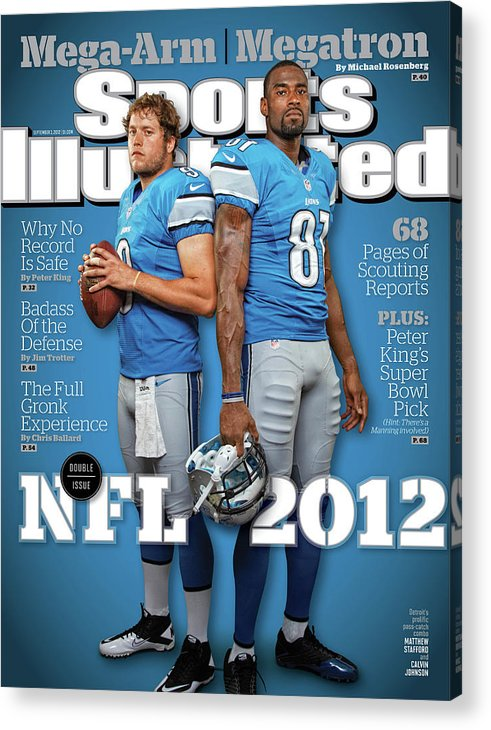 Magazine Cover Acrylic Print featuring the photograph 2012 Nfl Football Preview Issue Sports Illustrated Cover by Sports Illustrated