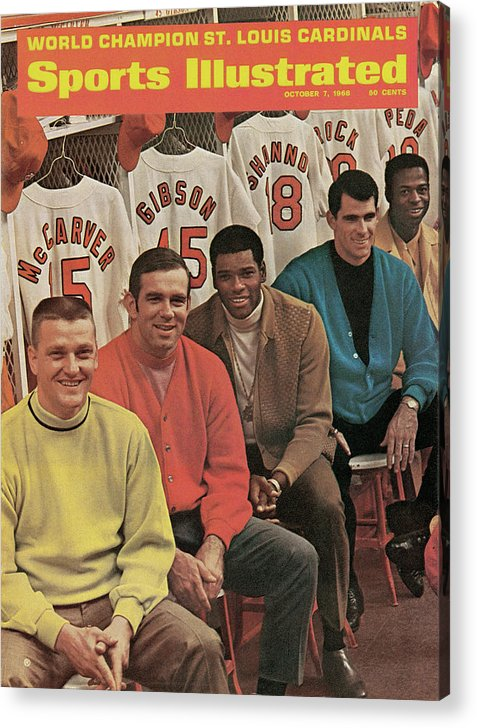 St. Louis Cardinals Acrylic Print featuring the photograph St. Louis Cardinals, 1968 World Series Champions Sports Illustrated Cover by Sports Illustrated