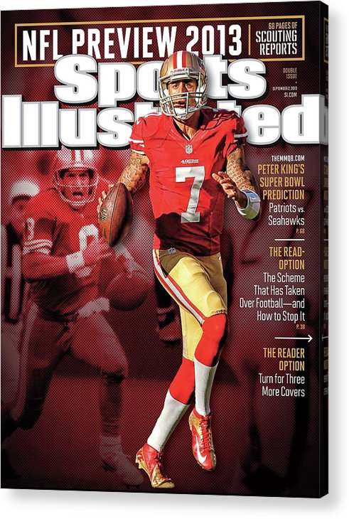 Candlestick Park Acrylic Print featuring the photograph The New Kings 2013 Nfl Football Preview Issue Sports Illustrated Cover by Sports Illustrated
