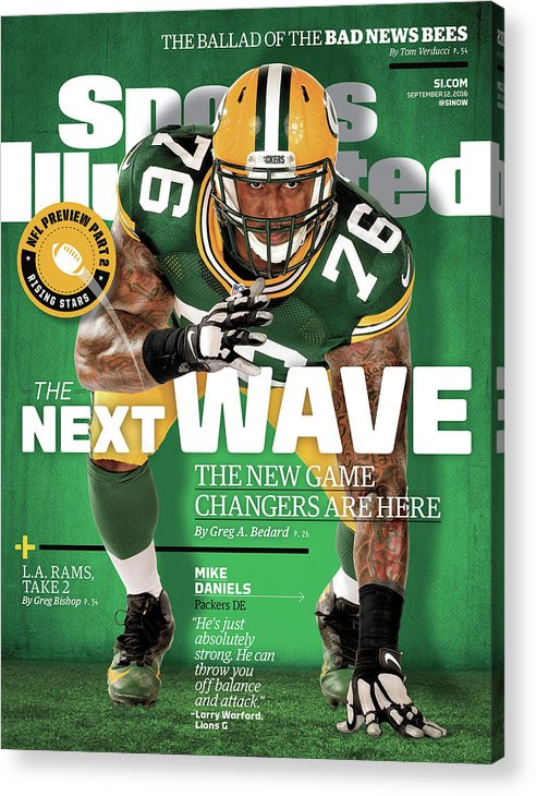 Green Bay Acrylic Print featuring the photograph The Next Wave The New Game Changers Are Here Sports Illustrated Cover by Sports Illustrated