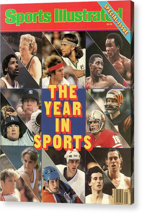 Playoffs Acrylic Print featuring the photograph 1981 Year In Sports Issue Sports Illustrated Cover by Sports Illustrated
