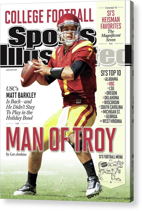 Magazine Cover Acrylic Print featuring the photograph 2012 College Football Preview Issue Sports Illustrated Cover by Sports Illustrated