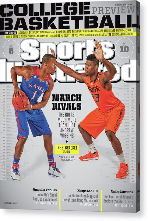 Magazine Cover Acrylic Print featuring the photograph 2013-14 College Basketball Preview Issue Sports Illustrated Cover by Sports Illustrated