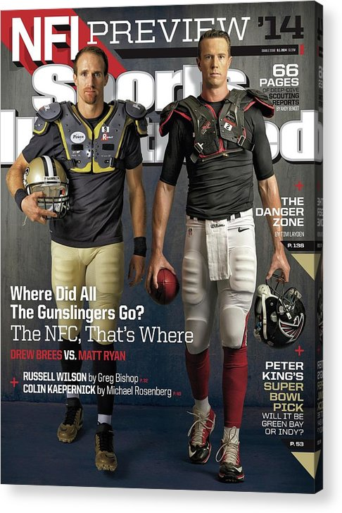 Magazine Cover Acrylic Print featuring the photograph Nfc Gunslingers 2014 Nfl Football Preview Issue Sports Illustrated Cover by Sports Illustrated