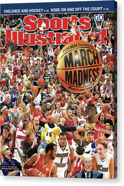 Magazine Cover Acrylic Print featuring the photograph 2004 March Madness College Basketball Preview Sports Illustrated Cover by Sports Illustrated
